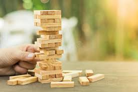 Game Played With Wooden Blocks Wood Blocks Stack Game Planning Risk And Strategy Business 95