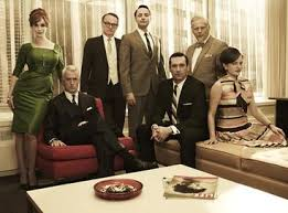 mad men mad men season 5 core cast from left to right christina hendricks john slattery jared harris vincent kartheiser jon hamm robert morse elisabeth moss