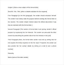 formal letter example formal letter format 12 free samples examples formats