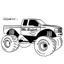 monster jam coloring pages. Simple Monster Monster Truck Coloring Pages  Big Foot In Jam E