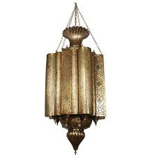 large moroccan moorish brass chandelier for