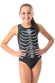 Destira Leotard Size Chart Destira Skeleton Rib Cage Leotard With Crystals Child Xxs Size 3