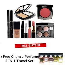 9 in 1 make up set box paper bag free chance perfume travel