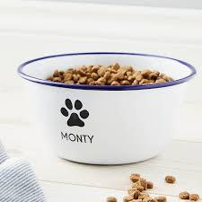 personalised enamel dog bowl
