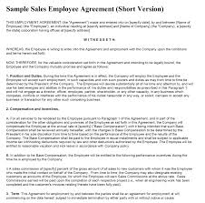 Template: Sample Employment Agreement Template Contract Free Payslip ...