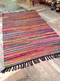 fab multi coloured shabby chic braided cotton jute rag rug inspirational rag rug uk