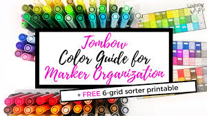 An easy art project to teach children about primary and secondary colors (colours). Tombow Marker Color Guide Free Printable Life By Whitney