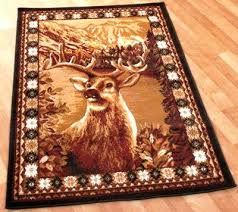 excellent outstanding rustic area rugs all images wildlife bear moose lodge throughout deer rug modern themed