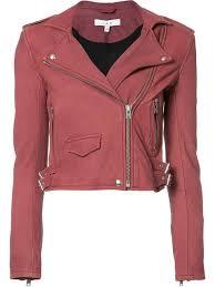 iro women s cropped biker jacket pink