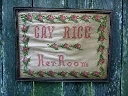 antique needlepoint rice