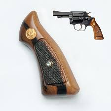 wood grips imported for smith wesson j square
