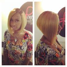 blonde a line bob hairstyle for black women