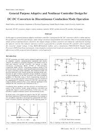 Discontinuous Conduction Mode Buck Converter Design Block Diagram Of Control System For Boost Dc Dc Converter