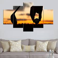 golf sport modern canvas art wall decor painting wall art with stretched frame ready