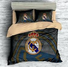 real madrid bedding customize real cf bedding set duvet cover set bedroom set real madrid bedding