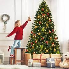 Goplus 7.5Ft Pre-Lit PVC Artificial Christmas Tree Hinged w/ 400 LED Lights Trees | - Sears