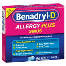 benadryl d allergy plus sinus generic phenylephrine