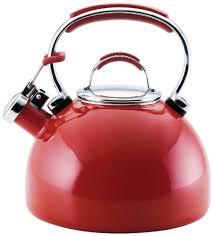 kitchenaid teakettle 2 quart gourmet essentials porcelain enamel kettle red