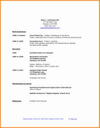 Resume Template High School Senior Elegant 5 Cv Template For