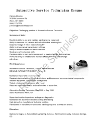Ideas Collection Cover Letter Automotive Technician Resume