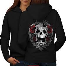 plat signature mme goth mort art cool skull femmes blackhoo dos wellcoda q8hclwrd