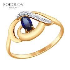 <b>Кольцо SOKOLOV из</b> золота с фианитами - купить недорого в ...