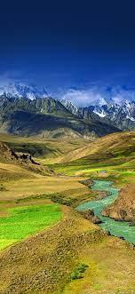 Mountain green river iPhone X ...