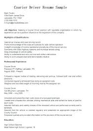 Courier Resume Van Driver Cover Letter Cover Letter For Driving Job Delivery Driver