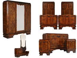 Art deco period furniture Painted Antique Art Deco Furniture Set 1930s Italian Bedroom Mah73 Antiques Artistic Antique Art Deco Furniture Set 1930s Italian Bedroom Mah73