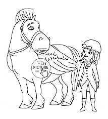 Small Picture Minimus and Sofia the First coloring page for kids disney for