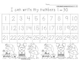 Number Chart 1 30 Easter Spring Theme