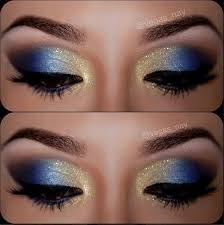 blue eyes always look so stunning for s and it will be more alluring if blended with some gold dust over your eyelids the blue and gold eye makeup
