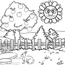 attractive design ideas scenery coloring pages printable to print free for toddlers page