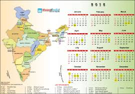 Year 2016 Calendar Public Holidays In India In 2016