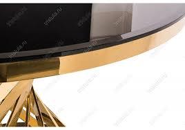 Обеденный <b>стол Twist gold</b> / <b>black</b> из стекла, цена 52500 руб ...