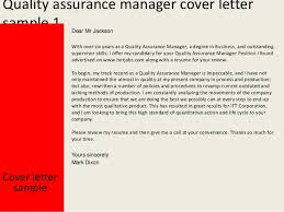 Cover Letter Sample Quality Manager Paulkmaloney Com