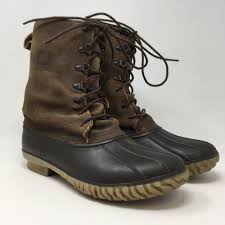 details about lacrosse mens boots 10 leather rubber duck hunting brown size 9 5 m womens 11