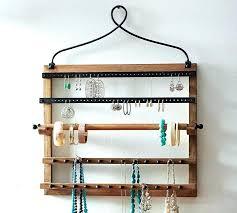 wall mounted necklace holders wall hanging jewelry organizer pine iron wall mounted jewelry hanger wall mounted