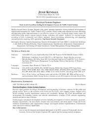 Best Ideas Of Control Systems Engineer Sample Resume Resume Cv