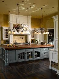 french country kitchen with a gorgeous island