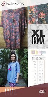Nwt Lularoe Xl Irma Nwt Lularoe Xl Irma Size Chart Available