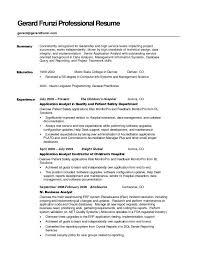 Resume Summary Example | Musiccityspiritsandcocktail.com