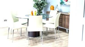 6 seater round dining table glass top india s