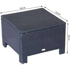 outsunny furniture garden patio rattan furniture outdoor wicker ottoman foot stool rest outsunny patio furniture reviews