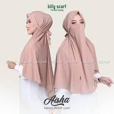 Hijab Jilbab Instan Cadar Niqab Scraft Aisha French Khimar Tali   Shopee  Indonesia