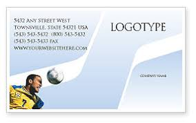 Soccer Business Card Head In Soccer Business Card Template