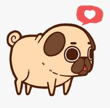 Pug Kawaii Dog Cute Aesthetic Chibi ...