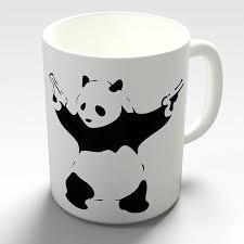 Бэнкси Panda пушки новизна кофе подарок <b>кружка</b> – купить по ...
