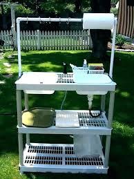 stainless steel outdoor sink. Outdoor Utility Sink Faucet Stainless Steel Backyard Gear . W