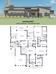 modern floor plans. Modern Courtyard House Plan Floor Plans H